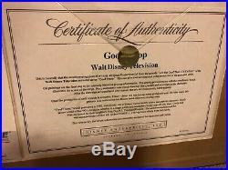 Original production cel Goof Troop (Disney TV) Goofy and Max with COA
