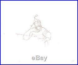 Peter Pan 1953 Disney Mr. Smee Original Production Cel Drawing COA