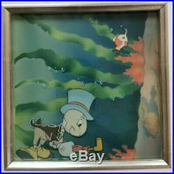 Pinocchio 1940 Walt Disney Courvoisier Production Animation Cel Jiminy Cricket