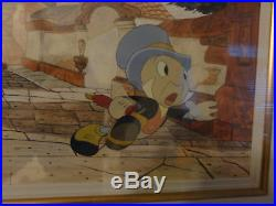 Pinocchio Jiminy Cricket Production Cel Presentation Original 1940 Walt Disney