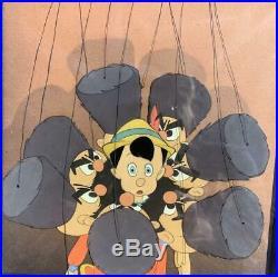 Pinocchio Vintage Animation Production Cel Walt Disney 1940 Russian Puppets Cour