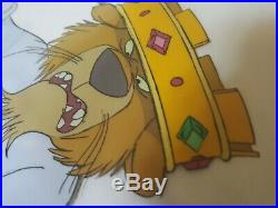 Prince John Disney 1973 Robin Hood Animated Movie Original Production Cel Lion