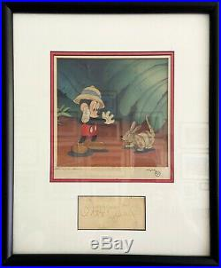 Production Cel on a Courvoisier Background -1943 film Pluto & the Armadillo