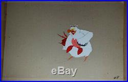 RARE Disney Little Mermaid Scuttle + Sebastian Production Cel noogie 1989 cell