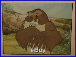 RARE Original 1966 Winnie The Pooh OWL Walt Disney ANIMATION Production Cel