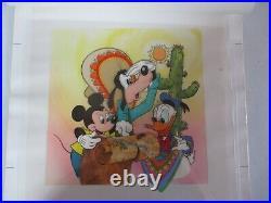 Rare 1980's Walt Disney Productions Animation Master Cel Mickey/donald/goofy