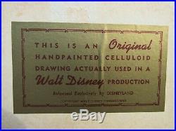 Rare Cool Walt Disney Production Original Animation Cel Napoleon The Aristocats