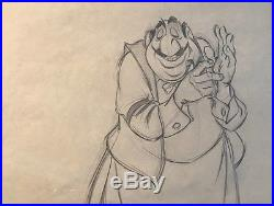 Rare Lady & the Tramp 1955 Movie Production Cel Drawing of'Tony' Walt Disney