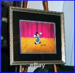 Rare Marc Davis SIGNED FRAMED PRODUCTION Animation cel Mickey Mouse-Full Figured