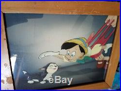 Rare Original Disney Pinocchio Courvoisier Production Cel Animation Art 1939
