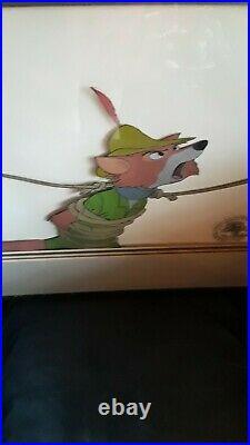 Rare Robin Hood Original Disney Production Animation Cel of Robin Hood 1973