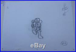 Rare Vintage Mickey Mouse Marching Band Pencil Production Art Cel Sketch Disney