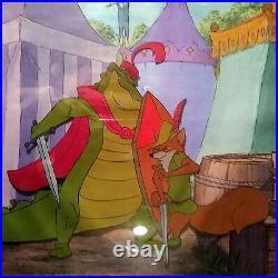 Robin Hood Duels Gator, 16fld Disney Production Cel On Copy Background, Framed
