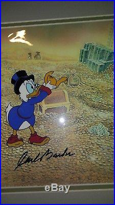 Scrooge Mcduck Production Cel From Duck Tales Signed By Carl Barks