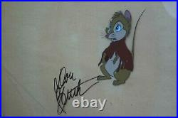 Secret of NIMH Hand Signed Don Bluth Mrs. Brisby 1982 Production Animation Cel