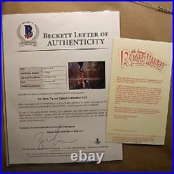 Signed Kathleen Turner Original Disney Production Jessica Roger Rabbit Cel CoA