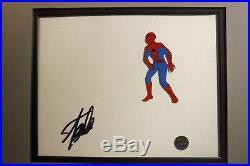 Signed STAN LEE Marvel Disney Spider-man Hand Painted PRODUCTION cel 1981 S5