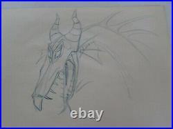 Sleeping Beauty Disney production cel Drawing Maleficent Dragon 1959
