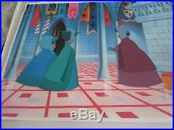 Sleeping Beauty Fairies Disney production cel 1959