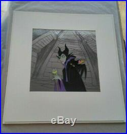 Sleeping Beauty Maleficent & Diablo Original Production Cel Walt Disney 1959