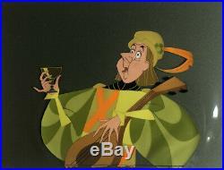 Sleeping Beauty ORIGINAL Production Cel of Minstrel w Walt Disney Gold Label