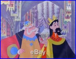 Sleeping Beauty Original Hand Painted Production Cel King Hubert and Stefan