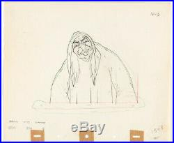 Snow White (1937) Original Production Drawing Hag Witch Queen cel Disney