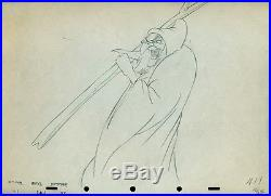 Snow White 1937 Witch Disney cel production Drawing