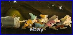 Snow White and the Seven Dwarfs Courvoisier Production Cel Setup Walt Disney, 1