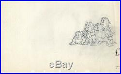 Snow White and the Seven Dwarfs KEY production animation cel drawing Disney 1937
