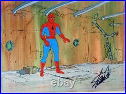 Spider Man woman 1979 Hand Painted PRODUCTION CEL & background Signed Stan lee