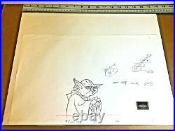 Star Wars Clone Wars (2003) Original PAN Production Drawing Yoda baby Dinsey cel
