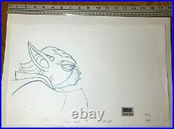 Star Wars Clone Wars art 2003 PAN Production Drawing Yoda cel Disney Mandalorian