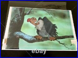 THE JUNGLE BOOK Production Animation Cels of BUZZIE and DIZZY 2 Cels 1967 RARE