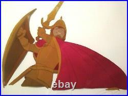 Taran As Valorous Knight, Black Cauldron Disney 16 Fld Animation Production Cel