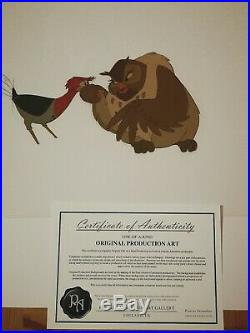 The Fox And The Hound Genuine Hand Painted Disney Production Cel Animation Art