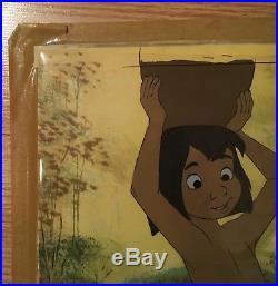 The Jungle Book Art Corner Disney Original Production Cel Of Mowgli 1967