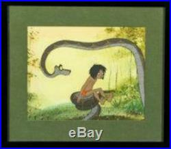The Jungle Book Mowgli and Kaa Production Cel (Walt Disney, 1967)