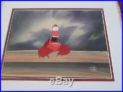 The Little Mermaid 1989 Sebastian Disney production Cel
