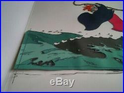 The Rescuers Disney Original Madame Medusa/alligators Production Cel 1977