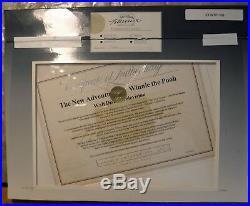 Tigger Disney production cel Seal Signed Jim Cummings Disney issued CoA