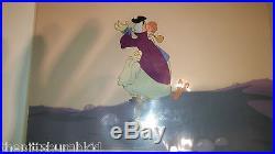 Very Rare 1951 Disney Gold Art Corner Alice In Wonderland Production Cel Nice