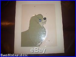 Very Rare 1955 Production Cel Cell Walt Disney Lady & The Tramp Gold Art Corner
