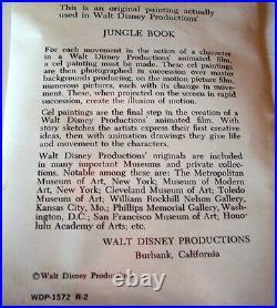 Vintage Disney Animation Cel The Jungle Book Original Production Mowgli Cell