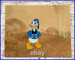 Vintage Disney / Disneyland Donald Duck Art Corner Production Cel