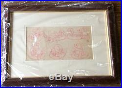 Vintage Mickey Mouse Story Board Production Drawing Cel 1930s Disney Framed