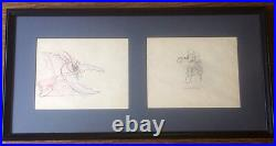 Vintage'Mickeys Garden' Mickey Mouse Production Drawing Cel c. 1935 Two-Panel