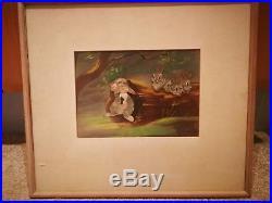 Vintage Old 1942 Bambi Walt Disney Courvoisier Production Cel Thumper Bunnies