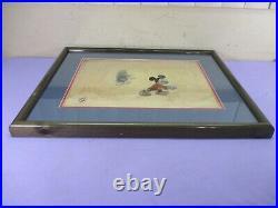 Vintage SIGNED Disney Mickey's Christmas Carol Scrooge Animation Production Cel