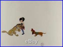 Vtg DON BLUTH Studios All Dogs Go To Heaven Production Animation Cel Lithograph
